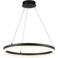 Avenue Lighting HF5027-BK Circa LED 24 inch Black Hanging Pendant Ceiling Light