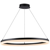Avenue Lighting HF5028-BK Circa LED 31 inch Black Hanging Chandelier Ceiling Light 35W