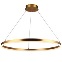 Avenue Lighting HF5028-GL Circa LED 31 inch Gold Hanging Chandelier Ceiling Light