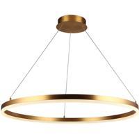 Avenue Lighting HF5028-GL Circa LED 31 inch Gold Hanging Chandelier Ceiling Light