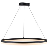 Avenue Lighting HF5029-BK Circa LED 39 inch Black Hanging Chandelier Ceiling Light