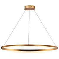 Avenue Lighting HF5029-GL Circa LED 39 inch Gold Hanging Chandelier Ceiling Light