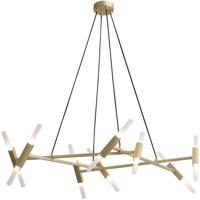 Avenue Lighting HF6016-BB Manhattan Ave 20 Light 25 inch Brushed Brass Pendant Ceiling Light