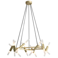 Manhattan Ave 4 Light 36 inch Brushed Brass Wall Sconce Wall Light