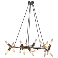Manhattan Ave LED 36 inch Polished Nickel Chandelier Ceiling Light