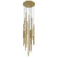 Icon St 24 Light 24 inch Brushed Brass Pendant Cluster Ceiling Light
