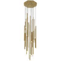 Avenue Lighting HF7024-BB Icon St 24 Light 24 inch Brushed Brass Pendant Cluster Ceiling Light