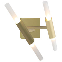 San Vicente Blvd LED 13 inch Brushed Brass Wall Sconce Wall Light