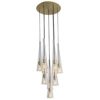 Brushed Brass Glass Chandeliers