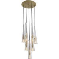 Avenue Lighting HF8132-BB Abbey Park 10 Light 18 inch Brushed Brass Chandelier Ceiling Light