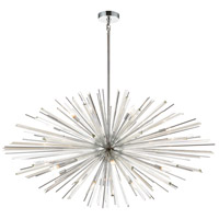 Avenue Lighting HF8200-CH Palisades Ave. LED 34 inch Chrome Hanging Chandelier Ceiling Light