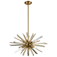 Avenue Lighting HF8201-AB Palisades Ave. 6 Light 24 inch Antique Brass Hanging Chandelier Ceiling Light