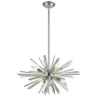 Avenue Lighting HF8201-CH Palisades Ave. 6 Light 24 inch Chrome Hanging Chandelier Ceiling Light
