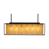 Avenue Lighting Soho 6 Light Linear Pendant in Dark Bronze with Natural Citrine Nuggets HF-9000-DBZ