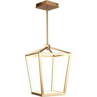Avenue Lighting HF9400-GLD Park Ave. LED 13 inch Gold Hanging Chandelier Ceiling Light