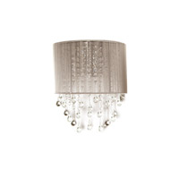 Avenue Lighting Beverly Drive 2 Light Wall Sconce with Taupe Silk String Shade and Crystal HF1511-TP