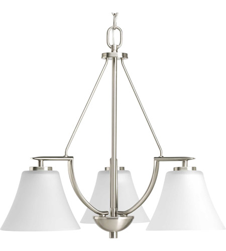 Bowery + Grove 51757-BNE Annette St 3 Light 23 inch Brushed Nickel Chandelier Ceiling Light photo thumbnail