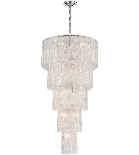 Bowery + Grove 54639-CC Antwerp St 19 Light 26 inch Clear/Chrome Chandelier Ceiling Light, Large photo thumbnail