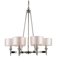 Bowery + Grove 56156-PN Glendale Fwy 6 Light 31 inch Polished Nickel Chandelier Ceiling Light