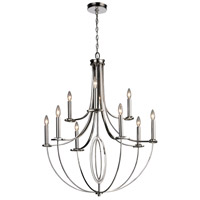 Bowery + Grove 55470-PN Goforth 9 Light 32 inch Polished Nickel Chandelier Ceiling Light