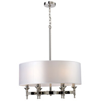 Bowery + Grove 55727-PN Glendale Fwy 6 Light 24 inch Polished Nickel Chandelier Ceiling Light