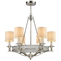 Bowery + Grove 55728-PN Nina 6 Light 26 inch Polished Nickel Chandelier Ceiling Light