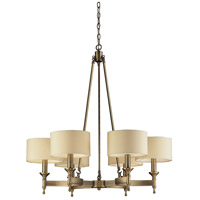 Bowery + Grove 55838-AB Glendale Fwy 6 Light 31 inch Antique Brass Chandelier Ceiling Light in Light Bar