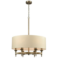 Bowery + Grove 55807-BA Glendale Fwy 6 Light 24 inch Brushed Antique Brass Chandelier Ceiling Light