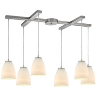Bowery + Grove 50138-SNO Goodland Ave 6 Light 17 inch Satin Nickel Mini Pendant Ceiling Light in Light Bar H-Bar