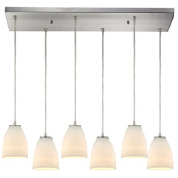 Bowery + Grove 50139-SNO Goodland Ave 6 Light 9 inch Satin Nickel Mini Pendant Ceiling Light in Rectangular Canopy Rectangular