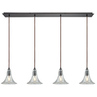Bowery + Grove 55891-ORCH Alamo 4 Light 46 inch Oil Rubbed Bronze Mini Pendant Ceiling Light in Linear, Linear