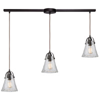 Bowery + Grove 55895-ORCH Alamo 3 Light 38 inch Oil Rubbed Bronze Mini Pendant Ceiling Light in Linear with Recessed Adapter Linear