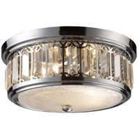 Bowery + Grove 56166-PC Glasgow Pl 2 Light 13 inch Polished Chrome Flush Mount Ceiling Light