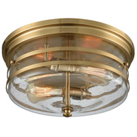 Bowery + Grove 50083-SBCS Ravenna 2 Light 14 inch Satin Brass Flush Mount Ceiling Light