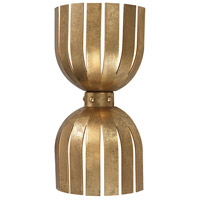 Bowery + Grove 50289-AG Burkburnett 2 Light 4 inch Antique Gold Leaf Sconce Wall Light, Double