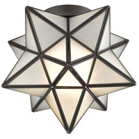 Bowery + Grove 50001-ORF Bells 1 Light 10 inch Oil Rubbed Bronze Flush Mount Ceiling Light