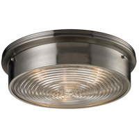 Bowery + Grove 56310-BN Kildare 3 Light 15 inch Brushed Nickel Flush Mount Ceiling Light