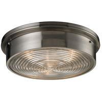 Bowery + Grove 56310-BN Kildare 3 Light 15 inch Brushed Nickel Flush Mount Ceiling Light