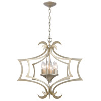 Bowery + Grove 50166-ASI Cork 6 Light 24 inch Aged Silver Chandelier Ceiling Light