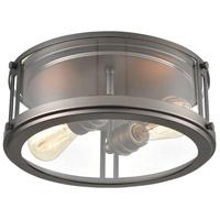 Bowery + Grove 56213-BNCI Glasgow Pl 2 Light 13 inch Black Nickel Flush Mount Ceiling Light