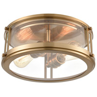 Bowery + Grove 56214-SBCI Glasgow Pl 2 Light 13 inch Satin Brass Flush Mount Ceiling Light