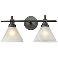 Bowery + Grove 56212-ORWM Caltanissetta 2 Light 18 inch Oil Rubbed Bronze Vanity Light Wall Light
