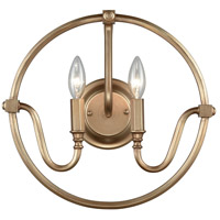 Bowery + Grove 50053-MG Burke 2 Light 15 inch Matte Gold Sconce Wall Light