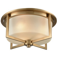 Bowery + Grove 50168-SBF Alonzo Pl 3 Light 15 inch Satin Brass Flush Mount Ceiling Light