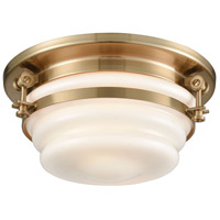 Bowery + Grove 56322-SBOW Zera 2 Light 12 inch Satin Brass Flush Mount Ceiling Light