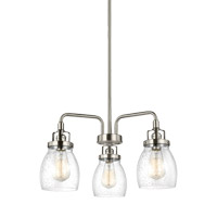 Bowery + Grove 51273-BNCS Luca 3 Light 20 inch Brushed Nickel Chandelier Ceiling Light