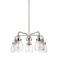 Bowery + Grove 51274-BNCS Luca 5 Light 24 inch Brushed Nickel Chandelier Ceiling Light