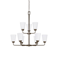 Bowery + Grove 52635-HBSE Blossom 9 Light 29 inch Heirloom Bronze Chandelier Ceiling Light
