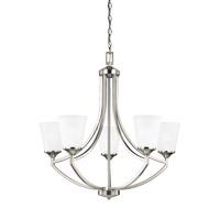 Bowery + Grove 52556-BNSE Garwood 5 Light 28 inch Brushed Nickel Chandelier Ceiling Light