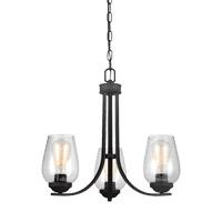 Bowery + Grove 51284-BCS Allison 3 Light 20 inch Blacksmith Chandelier Ceiling Light